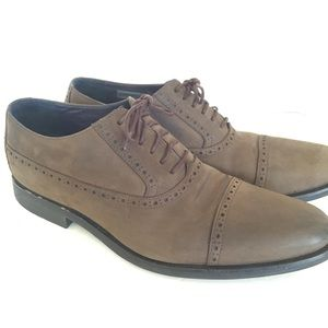 Cole Haan Air Stanton Cap Oxf Brown Leather Shoes